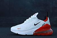 Белые кроссовки мужские летние дышащие легкие повседневные, кросовки  белые с красным