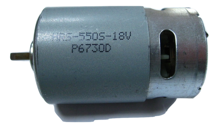 Двигатель аккумуляторного шуруповерта 18 В вал 3,2 мм шлиц, фото 2