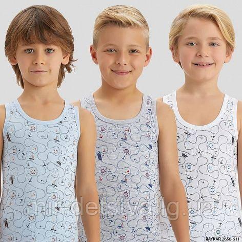 Майки детские для мальчиков TM Baykar Турция оптом р.3 (122-128 см)