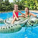 Пляжный надувной матрас плот Intex для плавания черепаха, фото 3