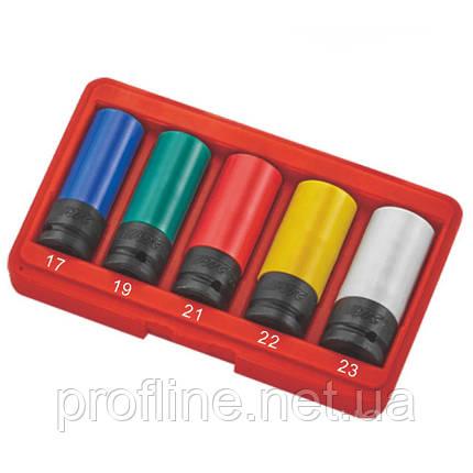 Набор головок ударных для литых дисков 17- 23 мм 5ед. 5530 JTC, фото 2