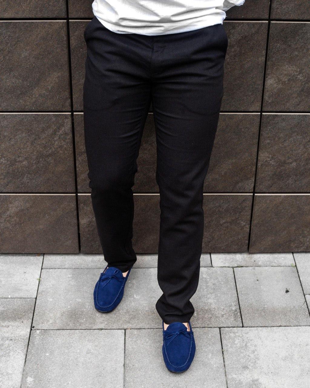 Чоловічі штани лляні чорні