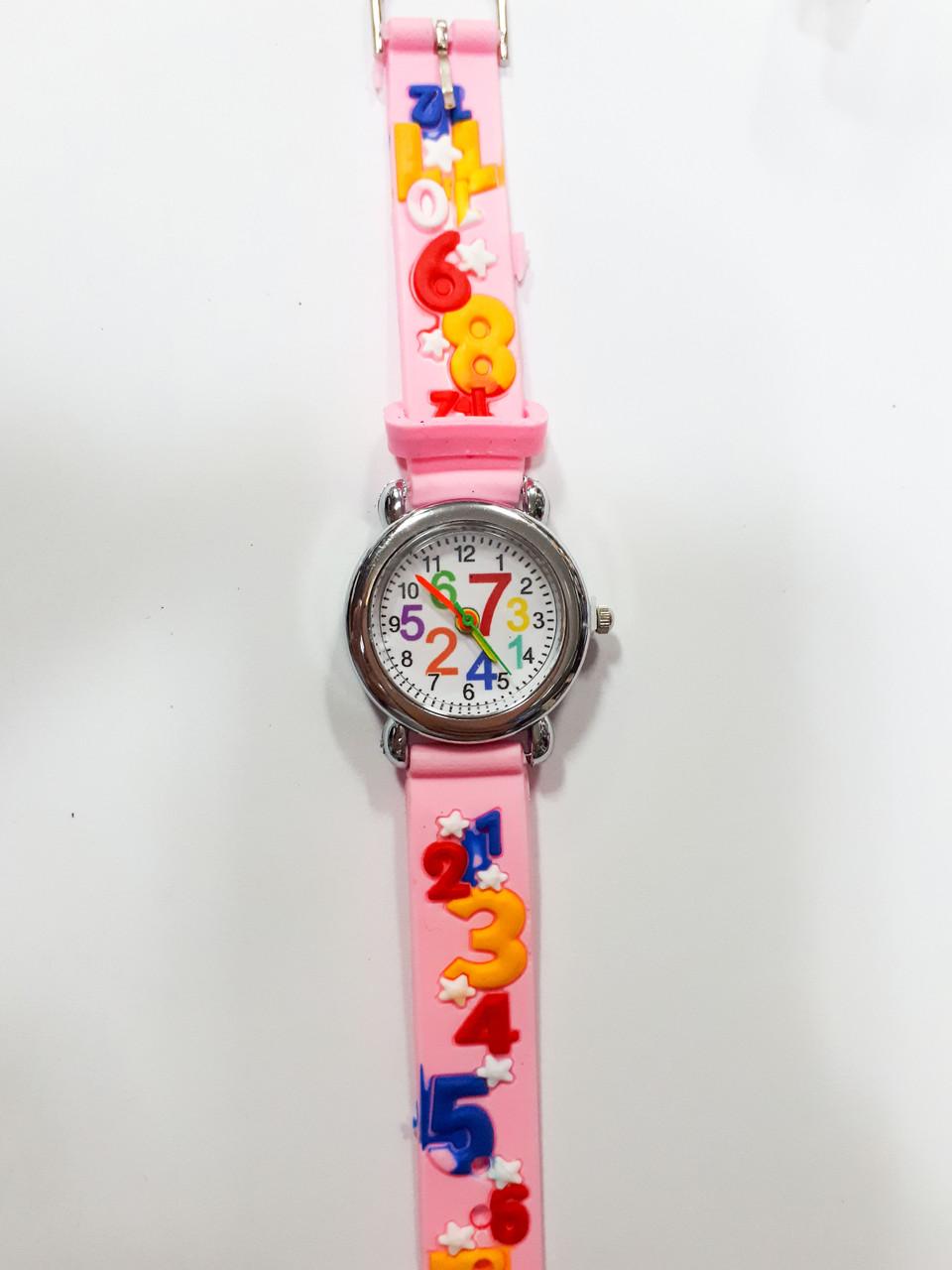 Часы детские Цифры Розовый опт