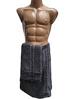 Набор для бани мужской, пототенце на липучке и полотенце для рук и лица, Massimo Monelli