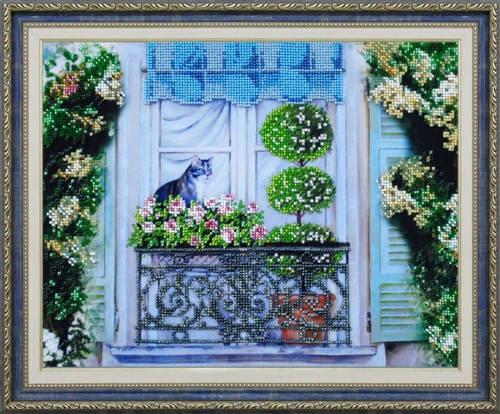 """Набор для вышивания бисером """"  Прогулка на балконе"""", фото 2"""