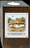 """Підсвічник метал/дерево. """"Україна"""" """"Хата з вишневим цвітом"""""""