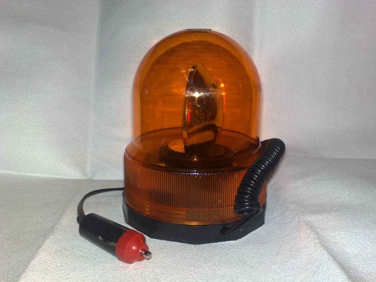 МИГАЛКА на магните-колба желтая 12V
