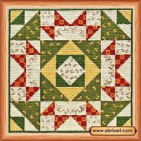Наборы для вышивания крестом Квилт.Осень АН-016