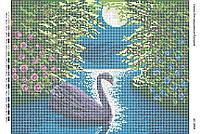 Схема для вышивания бисером ''Черный лебедь'' А3 29x42см