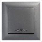 Выключатель 1 клав с подсветкой VISAGE дымка
