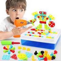 Мозаика - конструктор с шуруповертом Creative Puzzle 193 детали