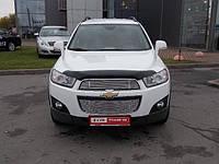 Дефлектор капоту (мухобійка) Chevrolet CAPTIVA 2012-. темний