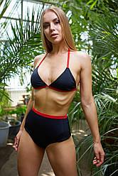 Женский пляжный купальник Nova Vega Ramp black+red