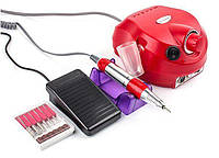 Фрезер для маникюра Drill Pro ZS 601 65 Вт 35 000 об, Серебро Красный