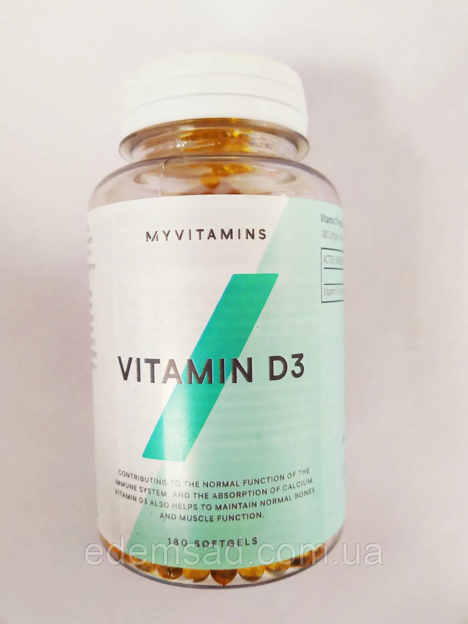 Вітамін D3 Myprotein MyVitamins Vitamin D3 180caps