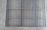 Оцинкованная грязезащитная решетка 33х11х2 мм