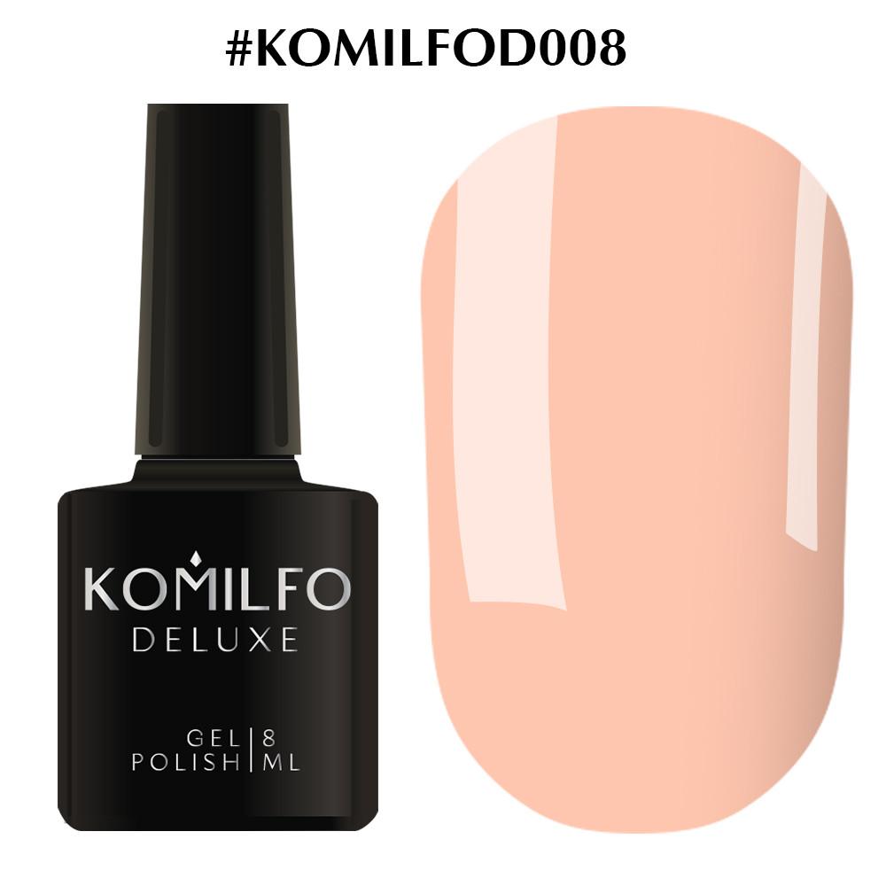 Гель-лак Deluxe Collection D008 Komilfo приглушенный бежево-розовый
