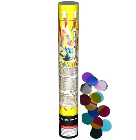 Хлопушка 30 см Разноцветные Круги СМ 032