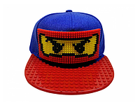 """Кепка-конструктор с козырьком прямым """"Ninjago"""" с логотипом / бейсболки лего"""
