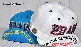№229 Кепка Pelicans. р.48-50 (2-3 года)Козырек можно согнуть как угодно.