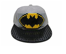 """Кепка-конструктор с козырьком прямым """"Bat Man"""" с логотипом / бейсболки лего"""