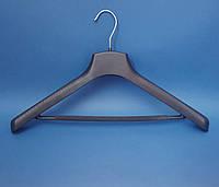 Вішак - плечики для одягу великих розмірівз перекладиною та протиковзаючою поролоновою губкою Д49