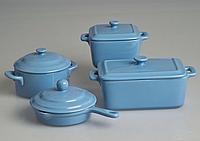 Gratinee Емкость для запекания 11см (сковорода) голуб.
