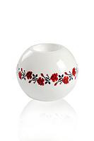 Подсвечник ETERNA 15*15*10 см белый с цветами