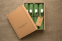 Набор 4 шт Салфетки лен 43*43 см зеленые