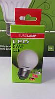 Лампа светодиодная энергосберегающая EUROLAMP LED G45 5W E27 3000K