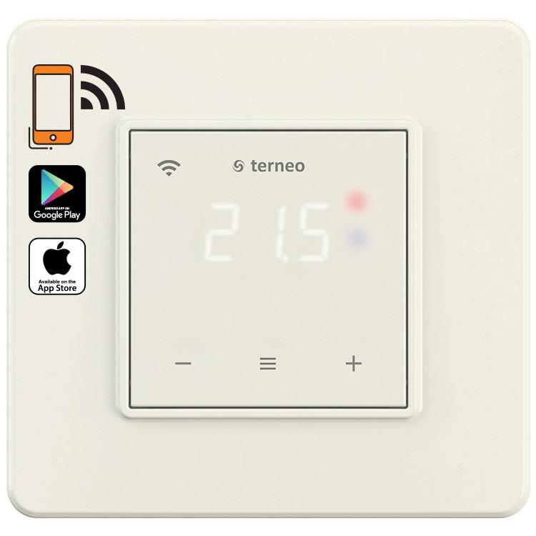 Терморегулятор terneo sx с Wi-Fi, слоновая кость