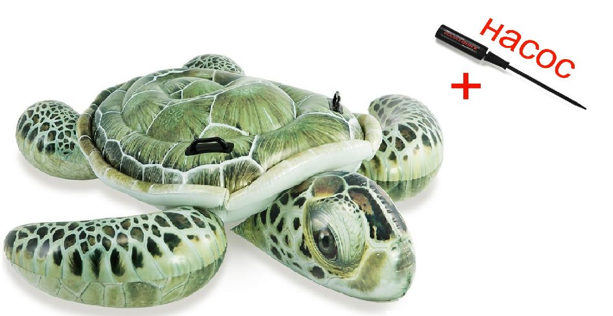 Пляжный надувной матрас плот Intex для плавания черепаха