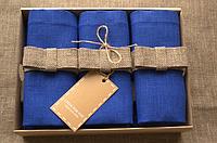 Набор 6 шт Салфетки лен синие