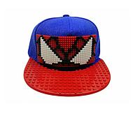 Кепка-конструктор с козырьком прямым с логотипом / бейсболки лего