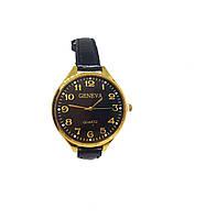 Часы женские кварцевые Geneva Gold Big Черный опт