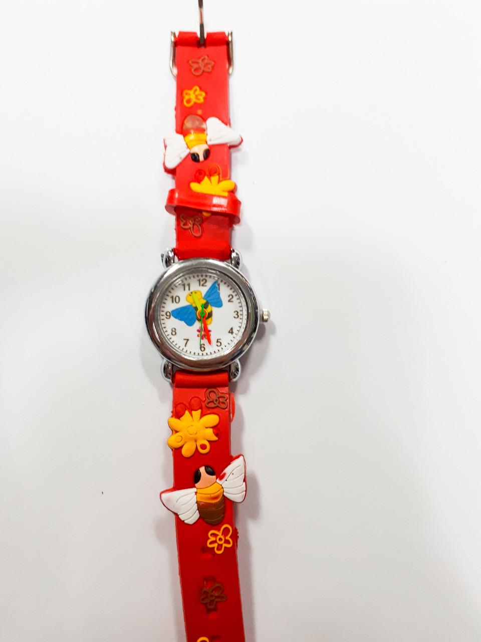 Часы детские Пчела Красный опт