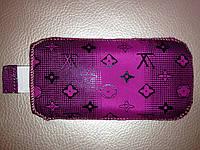НОВИНКА! Чехол с хлястиком,лиловый  LV,ткань