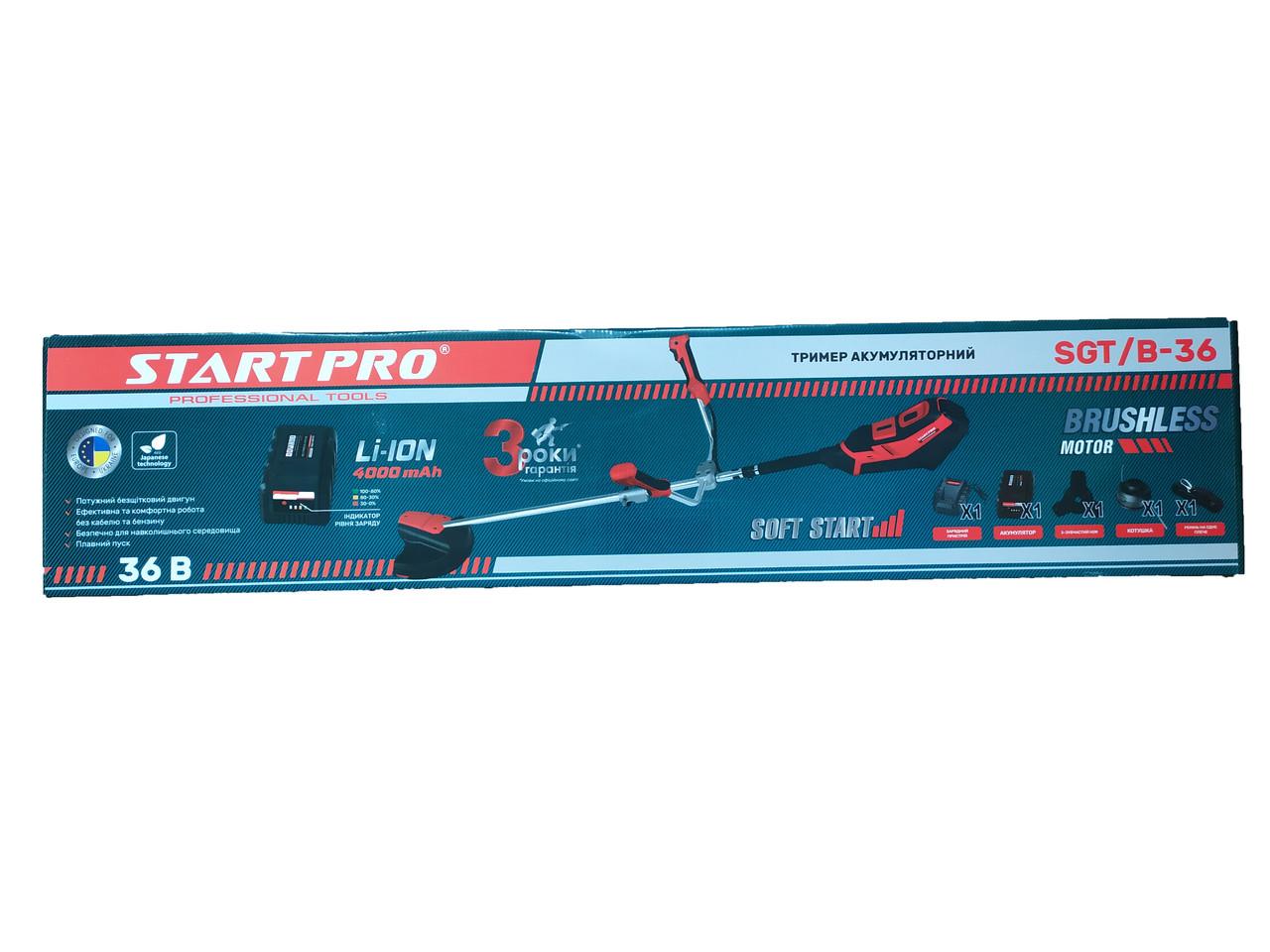 Аккумуляторная коса Start Pro SGT/B-36 (36V, 4000mAh)