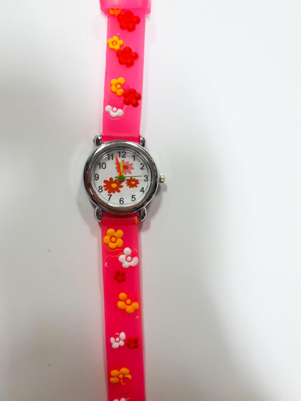Часы детские кварцевые Цветочки Розовый опт