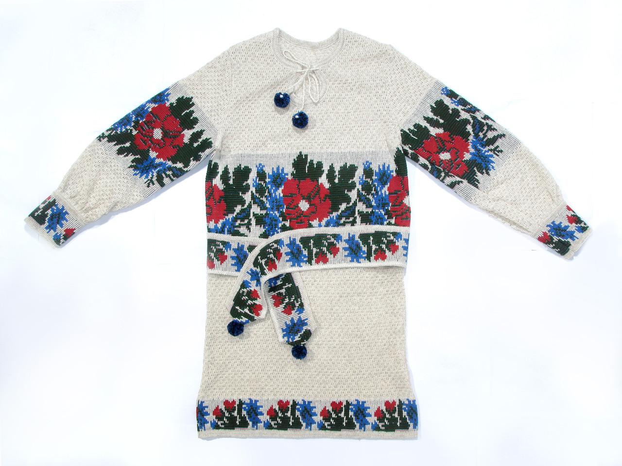 Вязаная вышиванка для девочки