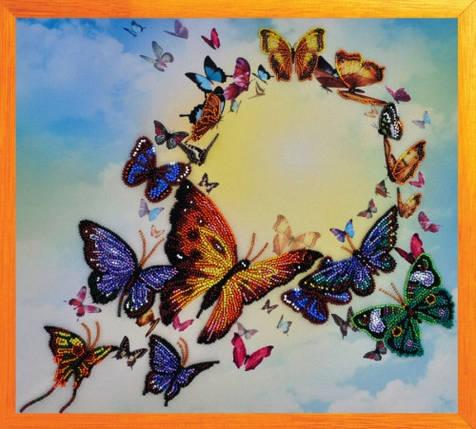 """Набор для вышивания бисером """"Танец бабочек"""", фото 2"""