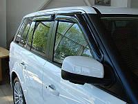 Дефлекторы окон (ветровики) LAND ROVER Range Rover 02-12, 4ч, темный