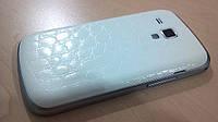 Декоративная защитная пленка для Samsung GT-S7562 Galaxy Duos аллигатор белый
