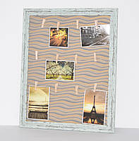 "Фоторамка с прищепками для фото и записок ""Old age"" (50х40х2 см.), фото 1"