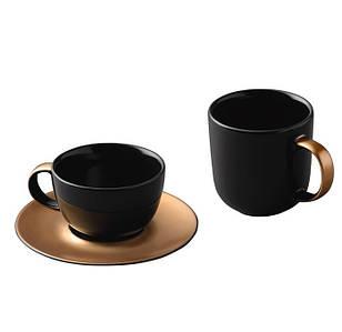 Набор для чая и кофе GEM, черный (1698006)