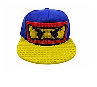 """Кепка-конструктор """"Ninjago"""" с прямым козырьком с логотипом / бейсболки лего"""
