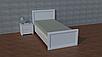 """Ліжко односпальне """"Орео"""" з натурального дерева, фото 2"""