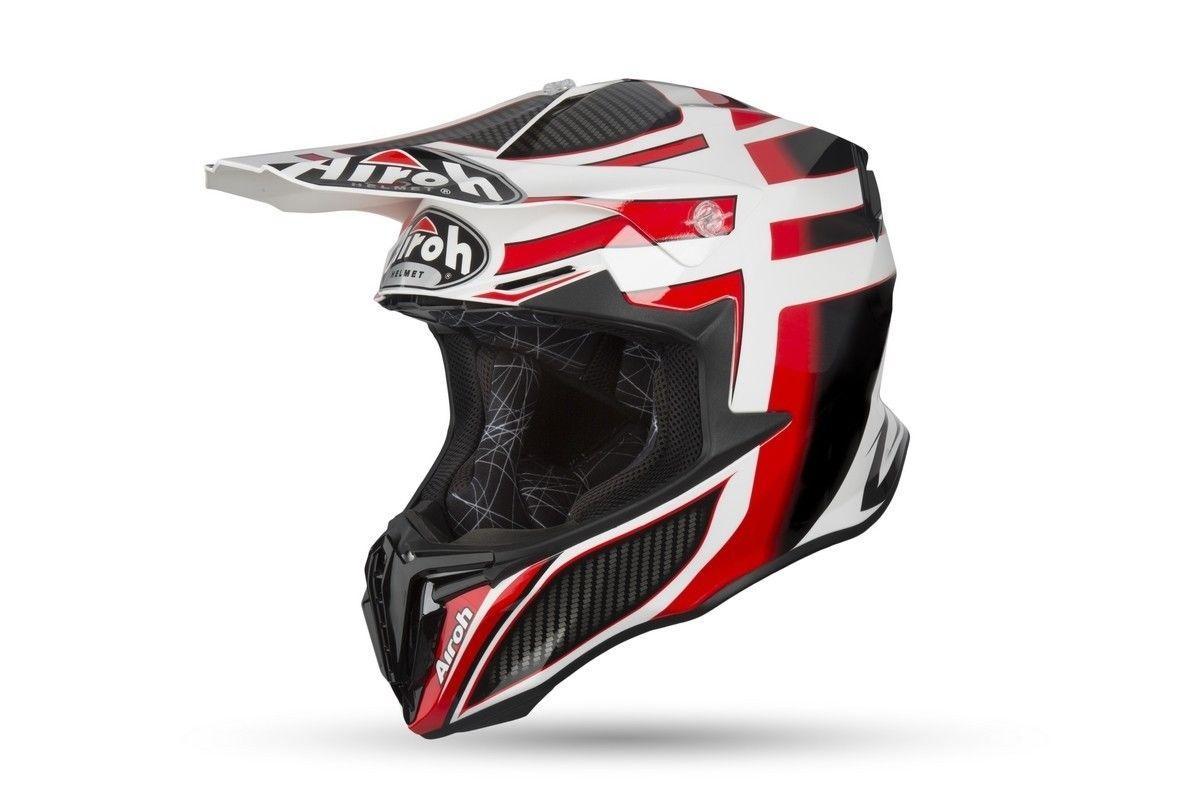 Шлем кроссовый Airoh Aviator Twist Shading Black/Red/White