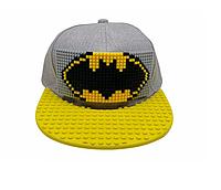 """Кепка-конструктор """"Bat Man"""" с прямым козырьком с логотипом / бейсболки лего"""