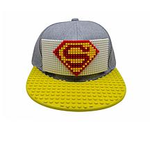"""Кепка-конструктор """"Super Man"""" с прямым козырьком с логотипом / бейсболки лего, фото 2"""